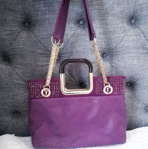Purple and gold gorgeous bag